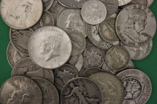 MAKE OFFER 1 TROY Ounce 90/% Silver Junk US Coins Flat Rate Shipping