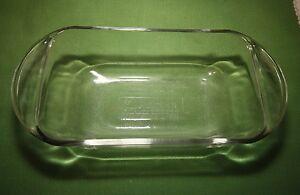 Vintage Anchor Hocking Ovenware Clear Glass Loaf Dish 1 1