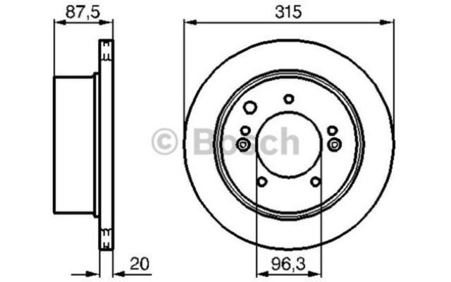 BOSCH Disco de freno (x2) Trasero 315mm ventilado KIA SORENTO 0 986 479 232