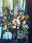 Bouquet nature morte Huile sur toile anonyme