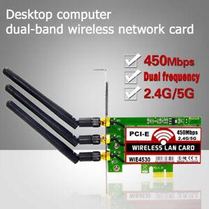 450Mbps-2-4G-5G-Wireless-WiFi-LAN-Card-PCI-E-X1-Network-Adapter-For-PC-Desktops