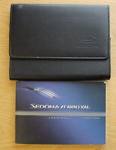 kia sedona carnival owners manual handbook wallet 2001 2005 pack rh ebay ie 2005 kia sedona service manual 2004 kia sedona owners manual