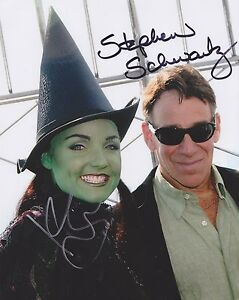 Stephen-Schwartz-amp-Kerry-Ellis-HAND-Signed-8x10-Photo-Autograph-Wicked-Musical-B