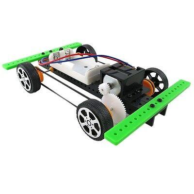 DIY Mini Battery Powered Car Model Kit Children Kids Educational Toy Gift  CC