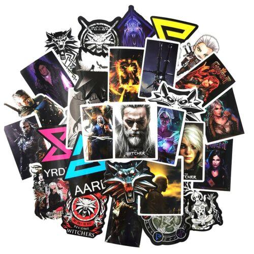 50PCS New Game Movie Stickers GERALT White Wolf CIRI Gvinblade Witcher PVC TOP