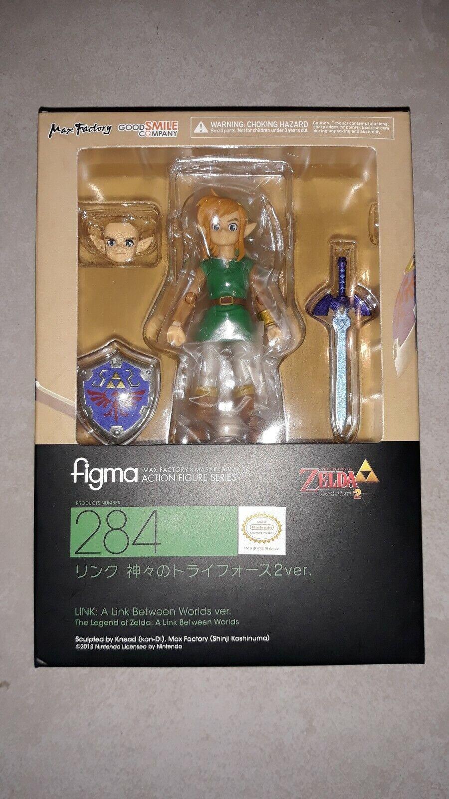 Legend Of Zelda  A Link Between Worlds Link Figma 284 Figure Authentic Japanese