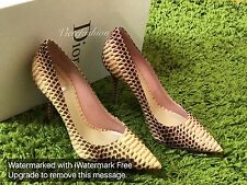 NIB $1295 Christian Dior python pump size 37