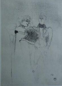 2661ea91b74 ... TOULOUSE-LAUTREC-Elegante-et-pretendant-LITHOGRAPHIE-signee-1927