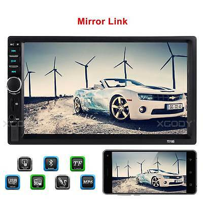 "7"" Double 2 DIN Head Unit Car Stereo MP5 Player Touch Screen BT Radio FM/USB/AUX"