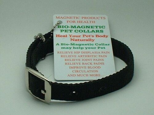 "MAGNETIC ANIMAL DOG CAT HEALTH COLLAR BLACK 16.5/"" LONG"