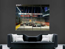 F1 POSTER SINGAPORE NIGHT RACE FORMULA ONE   GIANT WALL ART PICTURE PRINT LARGE