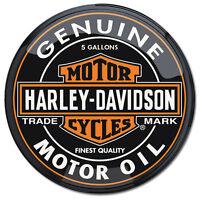 Harley-davidson Genuine Motor Oil Can Pub Light Motorcycle Bar Decor 16 X 16