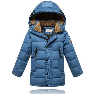 2017 Kids Boys Thicken long section Down Jacket 4 Color size 6-10Y