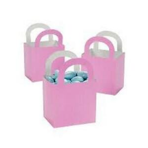 Pack-of-12-Pastel-Pink-Favor-Treat-Baskets-Small-Party-Gift-Box