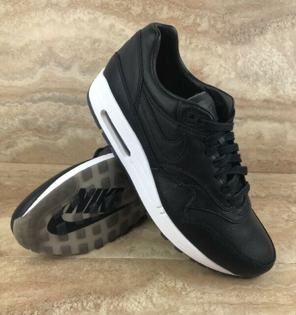 Nike Air Max 1 Deluxe Pinnacle Nike Lab Leather Shoes Black White
