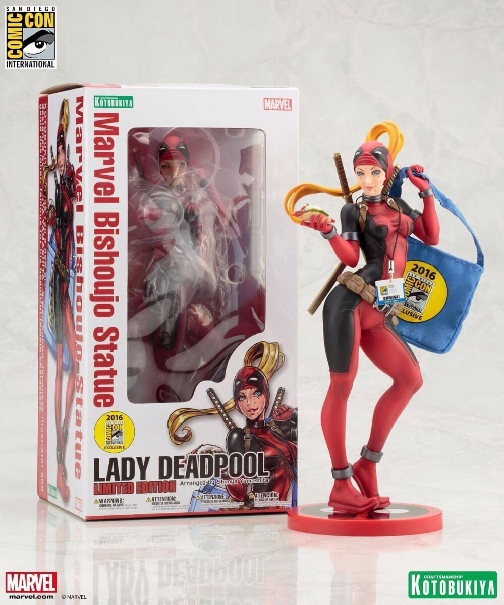 SDCC 2016 Kotobukiya Lady Deadpool Exclusive Bishoujo Statue Marvel Comics