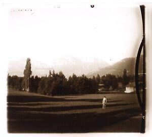 Vista Da Montagne c1930 Foto Placca Da Lente Stereo Vintage VR16L16n10
