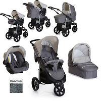 Hauck Viper Trio Slx 3 Wheel Pushchair Travel System Smoke / Grey From Birth