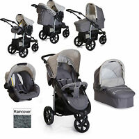 Hauck Viper Trio Slx 3 Wheel Pushchair Travel System Smoke / Grey From Birth