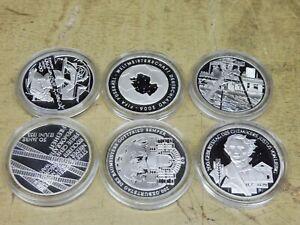 2003-6-x-10-Euro-Silber-PP-Jahrgang-komplett