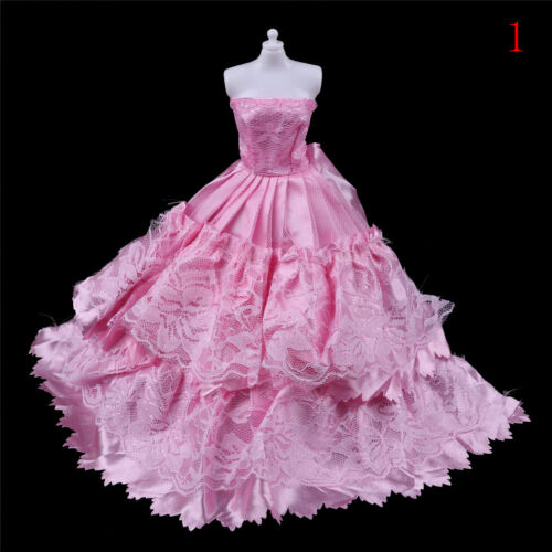 Fashion handmake Wedding Dress Fashion Clothing Gown For  doll B1HK V/_ch