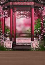 Retro Photography Backdrop Cute Chinese Style House Vinyl Photo Background 5x7ft