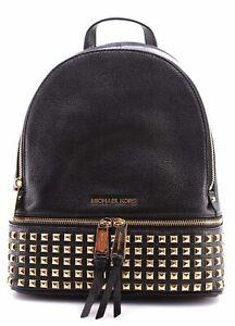 ed68c99420bb2e MICHAEL KORS Women's Bag Backpack 30S5GEZB5L Rhea Zip Black Back ...