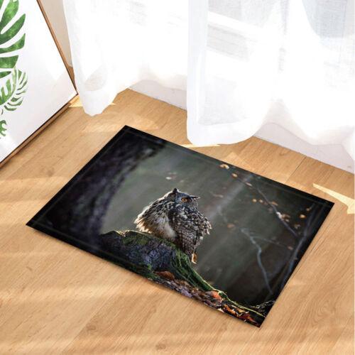 "Owl Stump Forest Animal Waterproof Bathroom Fabric Shower Curtain /& Hooks 71/"""