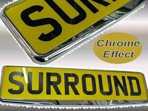 qualit chrom plastique voiture uk plaque immatriculation simple contour cadre ebay. Black Bedroom Furniture Sets. Home Design Ideas