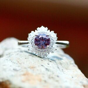 Woman Ring Silver 925 Ring Sterling Silver 925 Alexandrite Ring Jewelry,Gift For Her,Change Color Silver 925 Alexandrite Ring