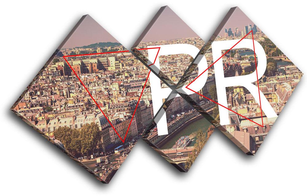 Paris Typography City MULTI TELA TELA TELA parete arte foto stampa 2fcff9