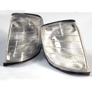 Pair-Euro-Corner-Signal-Light-Clear-for-Depo-92-99-Mercedes-Benz-S-Class-W140