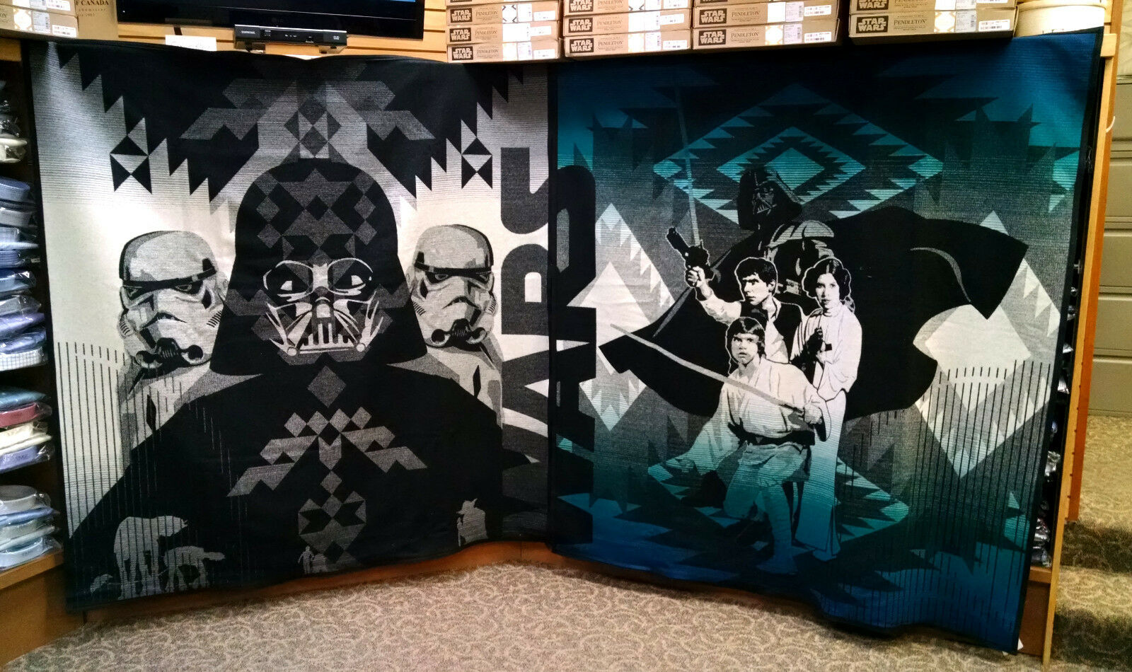 Star Wars Pendleton Blankets 4 Piece Limited Edition Set New Rare Hope Jedi Wool