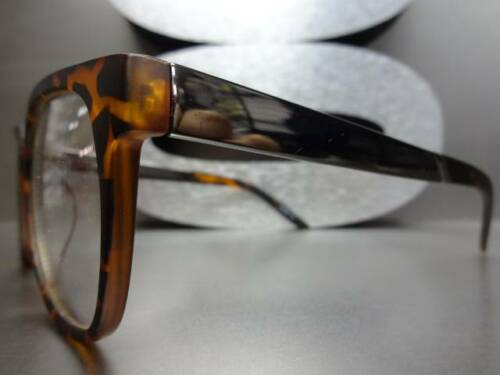 CLASSIC VINTAGE RETRO Style Clear Lens EYE GLASSES Matte Tortoise Gunmetal Frame