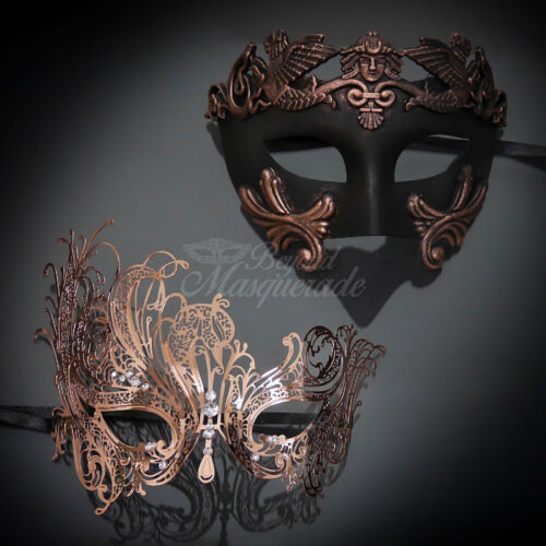 M7139 His /& Hers Set Couples Masquerade Mask Rose Gold Masquerade Mask M31000