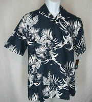 Mens Sz Medium Centro Hawaiin Aloha Oceano Short Sleeve Navy Floral