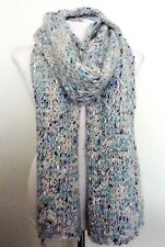 ZARA Knitted PALE BLUE Melange MOHAIR WOOL BLEND Scarf Stole Wrap Shawl £39.99