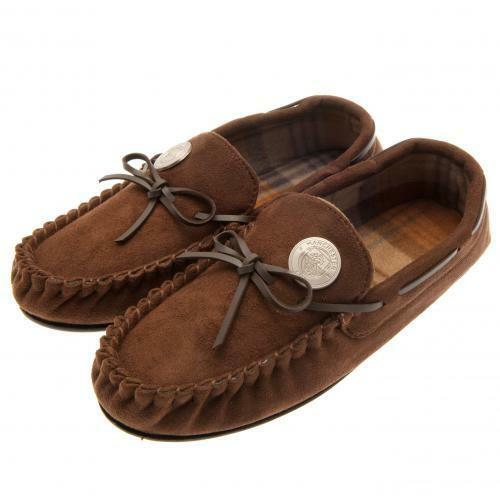 Manchester City FC Mens Moccasins Slippers 9 10 Football Club Fan PRESENT GIFT