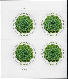 Details About Us 2017 Scott 5198 Green Succulent 4 Mint Nhxf Global Forever Stamp Plate Block