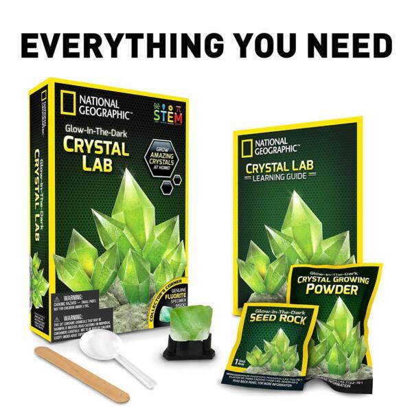 100% De Qualité National Geographic Fluorescent Cristal Croissance Kit Dessins Attrayants;