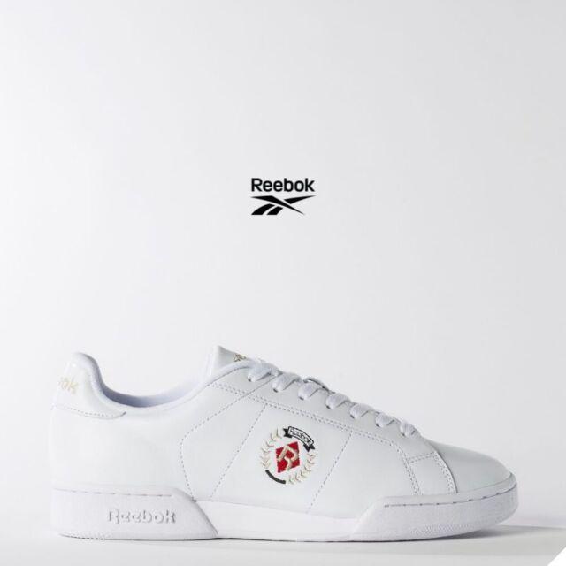 Reebok Classic NPC II INSIGNIA TENNIS Shoes Sneakers White BD3245 SZ 4 12.5
