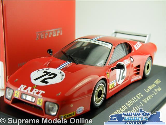 FERRARI BB512 CAR MODEL LE MANS 1982 1 43 SIZE IXO FER016 J. PAUL RED T34Z
