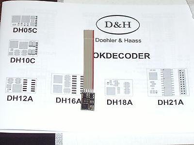 Doehler & Haas Fahrzeugdecoder DH10C-1 für SX1, SX2 und DCC mit Flachbandkabel