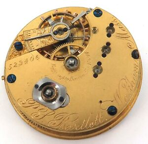 RARE-ONLY-20-839-MADE-1871-WALTHAM-P-S-BARTLETT-10S-15J-POCKET-WATCH-MOVEMENT