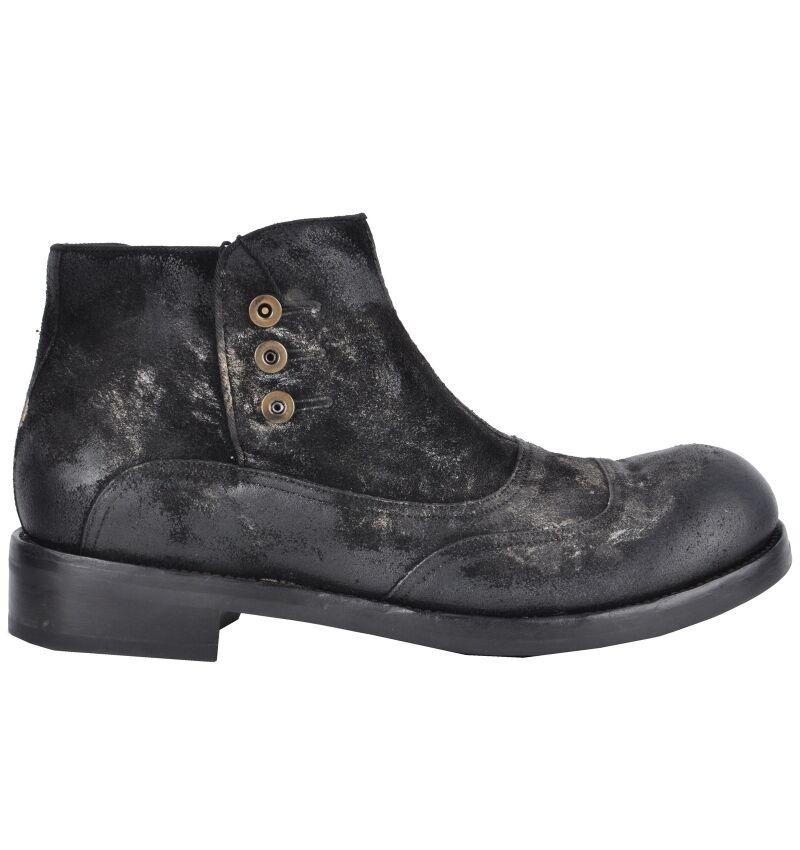 DOLCE & GABBANA RUNWAY Barock Stiefeletten 02858 Schuhe Schwarz Boots Black 02858 Stiefeletten 770f61