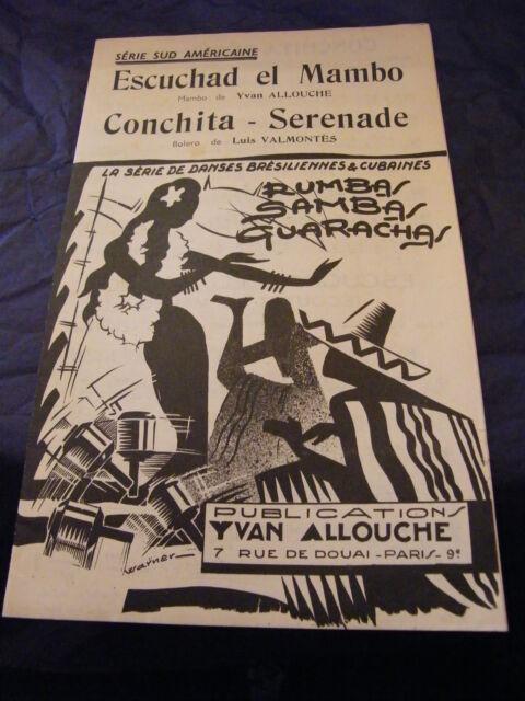 Partitura Escuchad El Mambo Yvan Allouche Serenata De Conchita Luis VALMONTES
