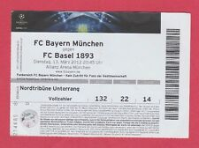 Orig.Ticket  Champions League 2011/12  BAYERN MÜNCHEN - FC BASEL  1/8 FINALE  !!