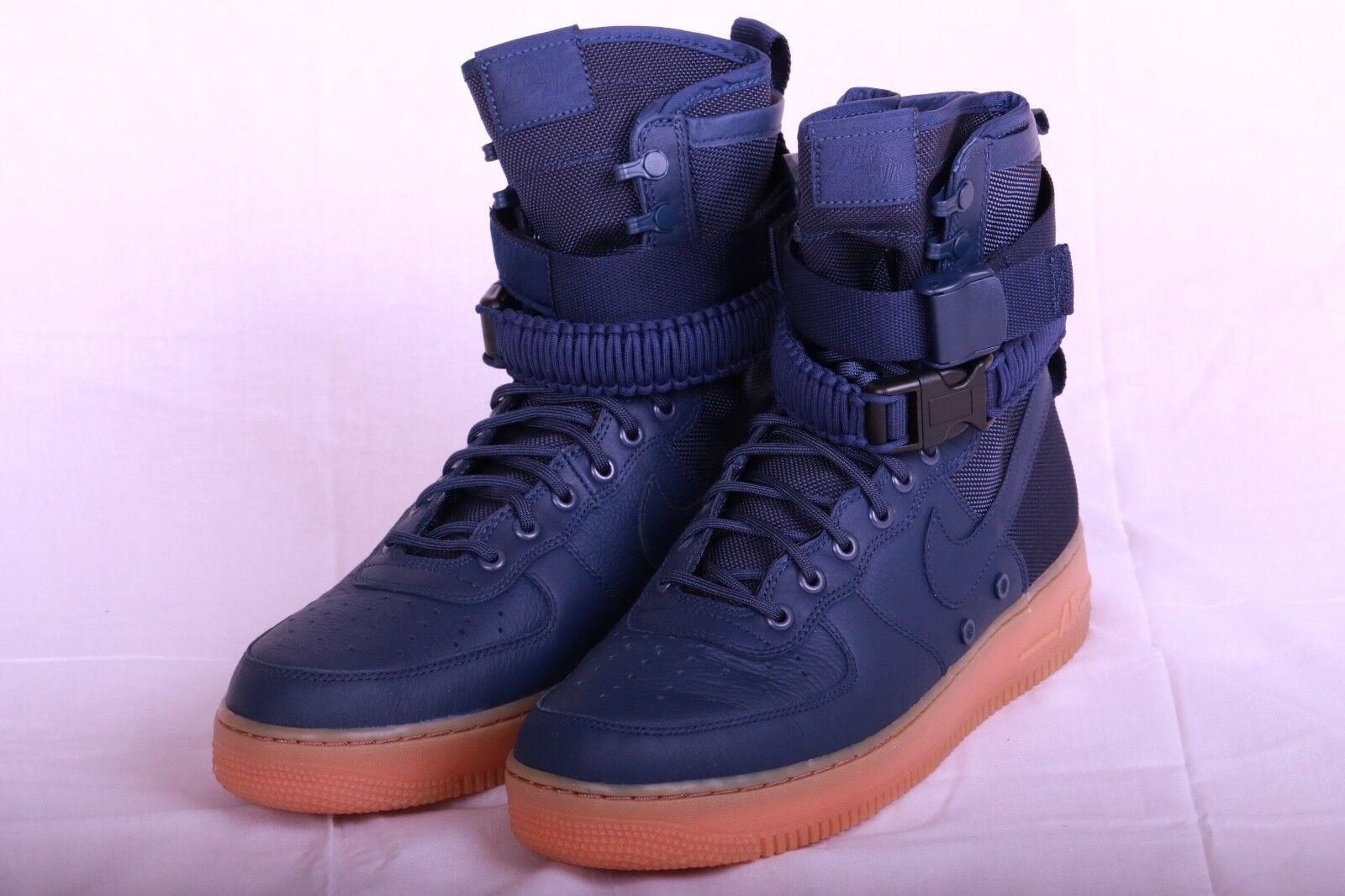 Nike Men's Special Field AF1 Midnight Navy blueee Gum 864024 400 Sz 8.5-11.5