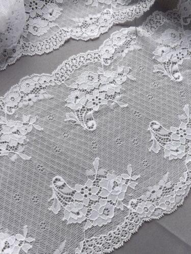 Vintage elástico suave lace175mm amplia Bridal Vestido cinturón Hueso De Marfil Flor 1m