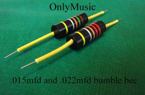 Compatible with LES PAUL SG Repro Bumblebee  capacitor .015 mfd /& .022 mfd